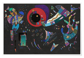 Plakat  around the circle - Wassily Kandinsky