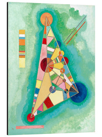 Obraz na aluminium  Stained in triangle - Wassily Kandinsky