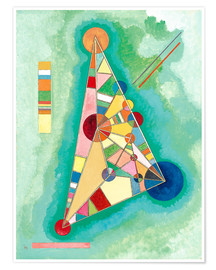 Plakat  Stained in triangle - Wassily Kandinsky