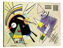 Obraz na aluminium  Black and purple - Wassily Kandinsky