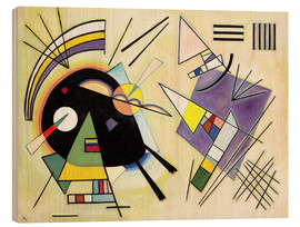 Obraz na drewnie  Black and purple - Wassily Kandinsky