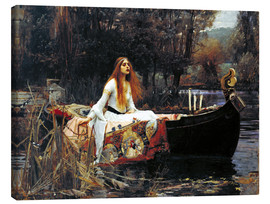 Obraz na płótnie  Pani z Shalott - John William Waterhouse