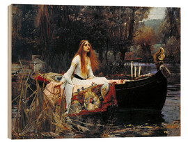 Obraz na drewnie  Pani z Shalott - John William Waterhouse