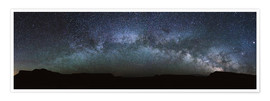 Plakat Panoramic of the Milky Way arch, United States