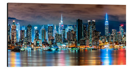 Obraz na aluminium  Midtown Skyline by Night, New York - Sascha Kilmer