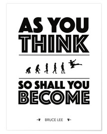 Plakat As you think - Bruce Lee
