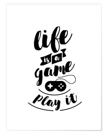 Plakat Life is a game