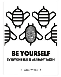 Plakat Be yourself - Oscar Wilde