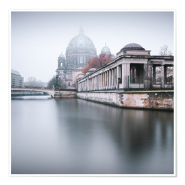 Plakat Berlin Cathedral in winter fog