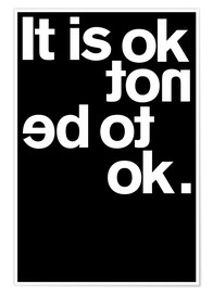 Plakat It is ok not to be ok.
