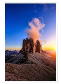 Plakat dolomites mountains