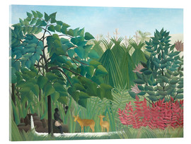 Obraz na szkle akrylowym  The waterfall - Henri Rousseau