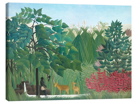 Obraz na płótnie  The waterfall - Henri Rousseau