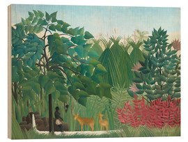 Obraz na drewnie  The waterfall - Henri Rousseau