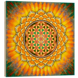 Obraz na drewnie  Flower of life - yellow lotus - Dirk Czarnota
