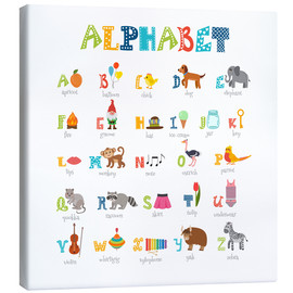 Obraz na płótnie  Cheerful alphabet (English) - Typobox