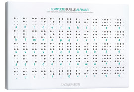 Obraz na płótnie  Braille - Alphabet (English, not actual braille) - Typobox