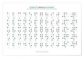 Plakat  Braille - Alphabet (English, not actual braille) - Typobox