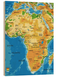 Obraz na drewnie  Africa - Topographic Map