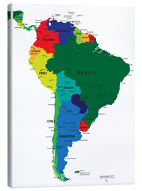 Obraz na płótnie  Map of South America