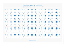 Plakat  Alfabet Braille'a - Typobox