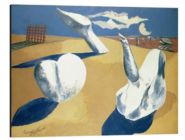 Obraz na aluminium  Stranded figures into the sunset - Paul Nash