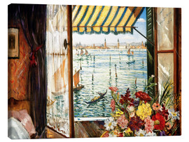 Obraz na płótnie  Looking out a window in Venice - Christopher Nevinson