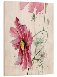 Obraz na drewnie  Cosmos flower watercolor - Verbrugge Watercolor