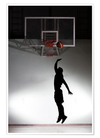 Plakat  Silhouette of a basketball player