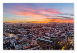 Plakat  Vienna Skyline at sunset, Austria - Mike Clegg Photography
