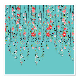Plakat Floral Wall