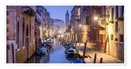 Plakat Venice panorama at night