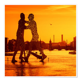 Plakat Berlin - Sunset Skyline I