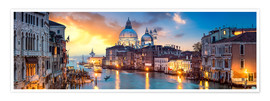 Plakat Canal Grande panorama in Venice, Italy