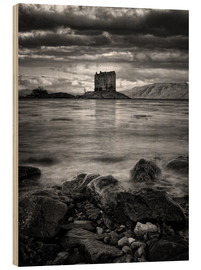 Obraz na drewnie  Castle Stalker, Scotland - Martina Cross