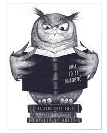 Plakat Reading owl