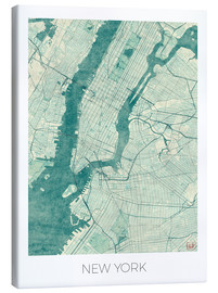 Obraz na płótnie  Map of New York, Blue - Hubert Roguski