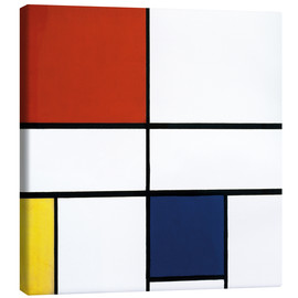 Obraz na płótnie  Composition c no iii with red yellow and blue - Piet Mondriaan