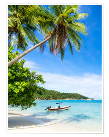 Plakat Beach vacation on a remote island in the tropics