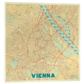 Obraz na szkle akrylowym  Vienna Map Retro - Hubert Roguski