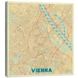 Obraz na płótnie  Vienna Map Retro - Hubert Roguski