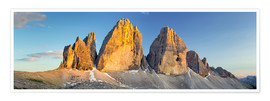 Plakat The three pinnacles, Dolomites