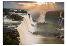 Obraz na płótnie  Sunset at Iguazu Falls - Alex Saberi
