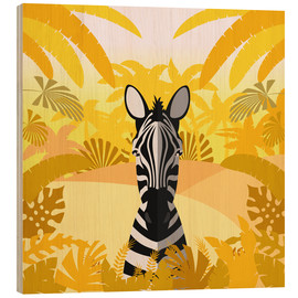 Obraz na drewnie  Habitat of the zebra - Kidz Collection