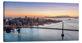 Obraz na płótnie  Aerial view of San Francisco at sunset, USA - Matteo Colombo