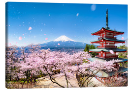 Obraz na płótnie  Chureito Pagoda and Mount Fuji in spring, Japan - Jan Christopher Becke