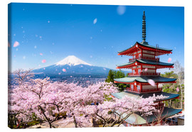 Obraz na płótnie  Chureito Pagoda and Mount Fuji in spring, Fujiyoshida, Japan - Jan Christopher Becke