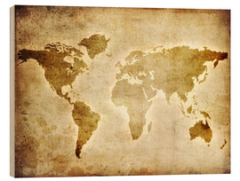 Obraz na drewnie  Vintage world map