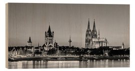 Obraz na drewnie  Magnificent Cologne black and white - Michael Valjak