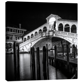Obraz na płótnie  VENICE Rialto Bridge at Night - Melanie Viola